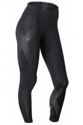 2XU Mid-Rise Compression Tights - Black/Dotted Reflective logo