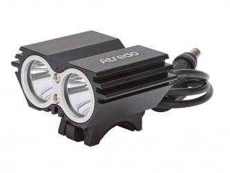 Atredo - MTB Forlygte - 2400 Lumen - USB opladelig - Sort