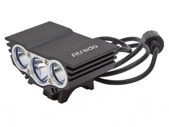Atredo - MTB Forlygte - 3000 Lumen - USB opladelig - Sort