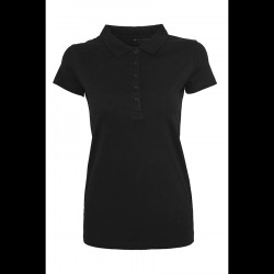 Basics Ladies Jersey Polo Black