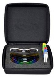 BBB solbrille Select box hvid 6 glas 7 gummi