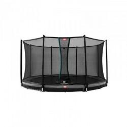Berg trampolin InGround Champion inkl. sikkerhedsnet Comfort 330 cm grå