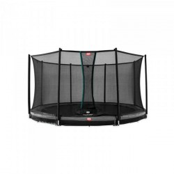 Berg trampolin InGround Champion inkl. sikkerhedsnet Comfort 380 cm grå