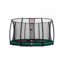 Berg trampolin InGround Champion inkl. sikkerhedsnet Deluxe 430 cm grøn
