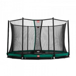 Berg trampolin InGround Favorit + sikkerhedsnet Comfort 380 cm grå