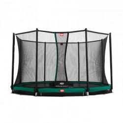 Berg trampolin InGround Favorit + sikkerhedsnet Comfort 380 cm grøn