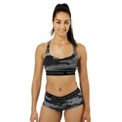 Better Bodies Athlete Short Top, grey camoprint, Better Bodies