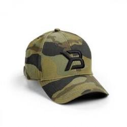 Better Bodies BB Baseball Cap, green camoprint, Better Bodies