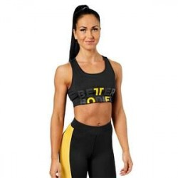 Better Bodies Bowery Sports Bra, black/yellow, Better Bodies