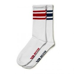 Better Bodies Brooklyn Socks, 2-pack, navy/red, Better Bodies