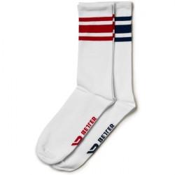 Better Bodies Brooklyn Socks 2-Pack Navy/Red
