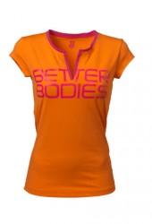 Better Bodies Fitness V-Tee - Bright Orange