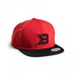 Better Bodies Flat Bill Cap, red/black, Better Bodies