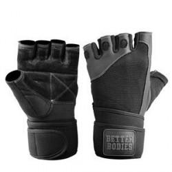 Better Bodies Pro Wristwrap Gloves, black, Better Bodies