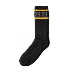 Better Bodies Tribeca Socks 2-Pack, black/yellow, Better Bodies