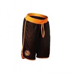 Better Bodies Womens Mesh Shorts - Black/Orange