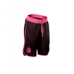 Better Bodies Womens Mesh Shorts - Black/Pink