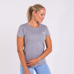 BM Womens Fitted Tee Oxford Grey