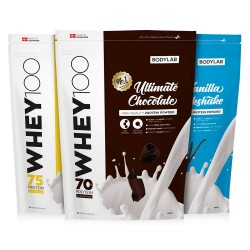 Bodylab Whey 100 proteinpulver 1 kg - Smag: Vanilie Milkshake