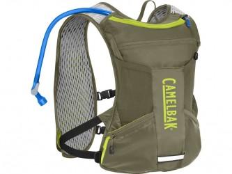 Camelbak Chase - Rygsæk/Bike Vest 4L med 1,5 L vandreservior - Oliven/Lime