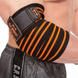 C.P. Sports Elbow Wraps Pro, black/orange, C.P. Sports