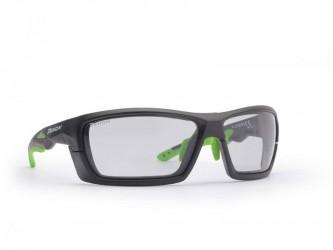 Demon Occhiali Demon Record DCHROM - Løbe- og cykelbrille med fotokromiske linser - Sort/grøn