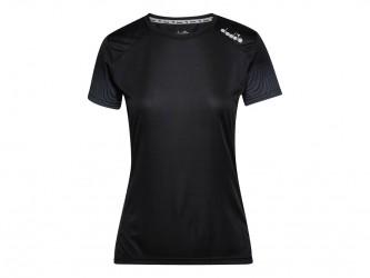 Diadora L. X-Run SS T-Shirt - Løbe t-shirt - Dame - Sort - Str. XL