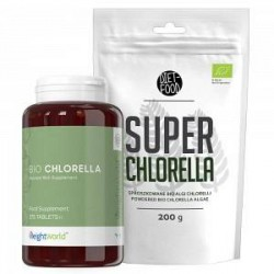 Diet-Food Chlorella Super Pakke - Piller & Pulver - Sund Detox Udrensning - Superfood Rig På Klorofyl - Vitaminer, Mineraler & O