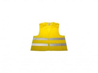 Diverse Sikkerhedsvest gul med refleks voksen