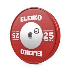 Eleiko Viktskiva WPPO Powerlifting Competition, 25 kg, röd, Eleiko