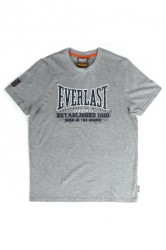 Everlast Mens Chest Print Tee Grey