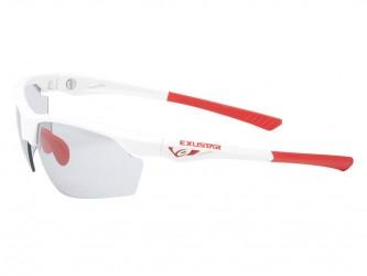 Exustar - Løbe- og cykelbrille - Fotokromiske linser - Hvid og rød