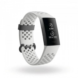 Fitbit Charge 3 Special Edition Graphite/White Silicone