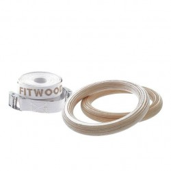 Fitwood GYM RINGS KIDS, Wood, White