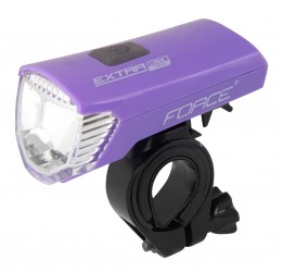 Force 70 lumen USB forlygte lilla