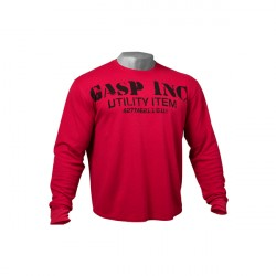 GASP Thermal Gym Sweater Chili Red