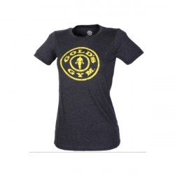 Golds Gym Ladies Stronger Than Yesterday T-shirt Carcoal Heather