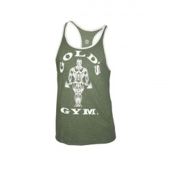 Golds Gym Muscle Joe Contrast Stringer Army
