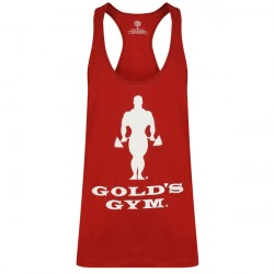 Golds Gym Muscle Joe Slogan Premium Tank Burgundy