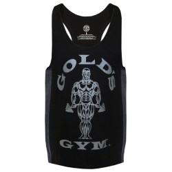 Gold's Gym Muscle Joe Tonal Panel Stringer Tank Black