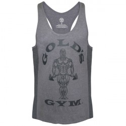 Gold's Gym Muscle Joe Tonal Panel Stringer Tank Grey