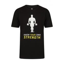Golds Gym Premium Crew Neck T-Shirt - Black