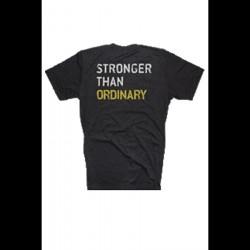 Golds Gym Stronger Than Ordinary Tee Dark Grey