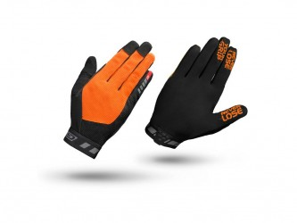 GripGrab 1064 Vertical - Cykelhandsker til MTB - Lang - Orange/Sort - Str. XL