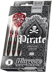 Harrows Softip Pirate Black Brass Softtip Dartpile