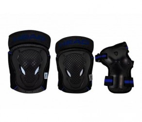Head beskyttelsessæt - Sort/Blå
