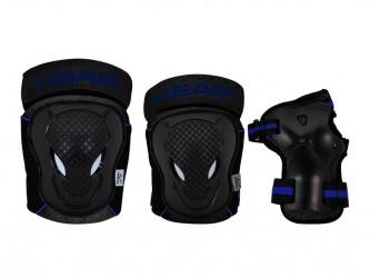 Head beskyttelsessæt - Str. XS - Sort/Blå