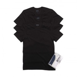 Hugo Boss 3-Pack T-Shirts Round Neck Black