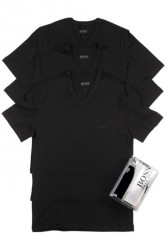 Hugo Boss 3-Pack T-Shirts V-Neck Black