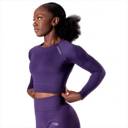 ICANIWILL Define Seamless Long Sleeve Crop Top Mysterioso